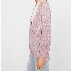 Wrap Front Balloon Sleeve Pullover